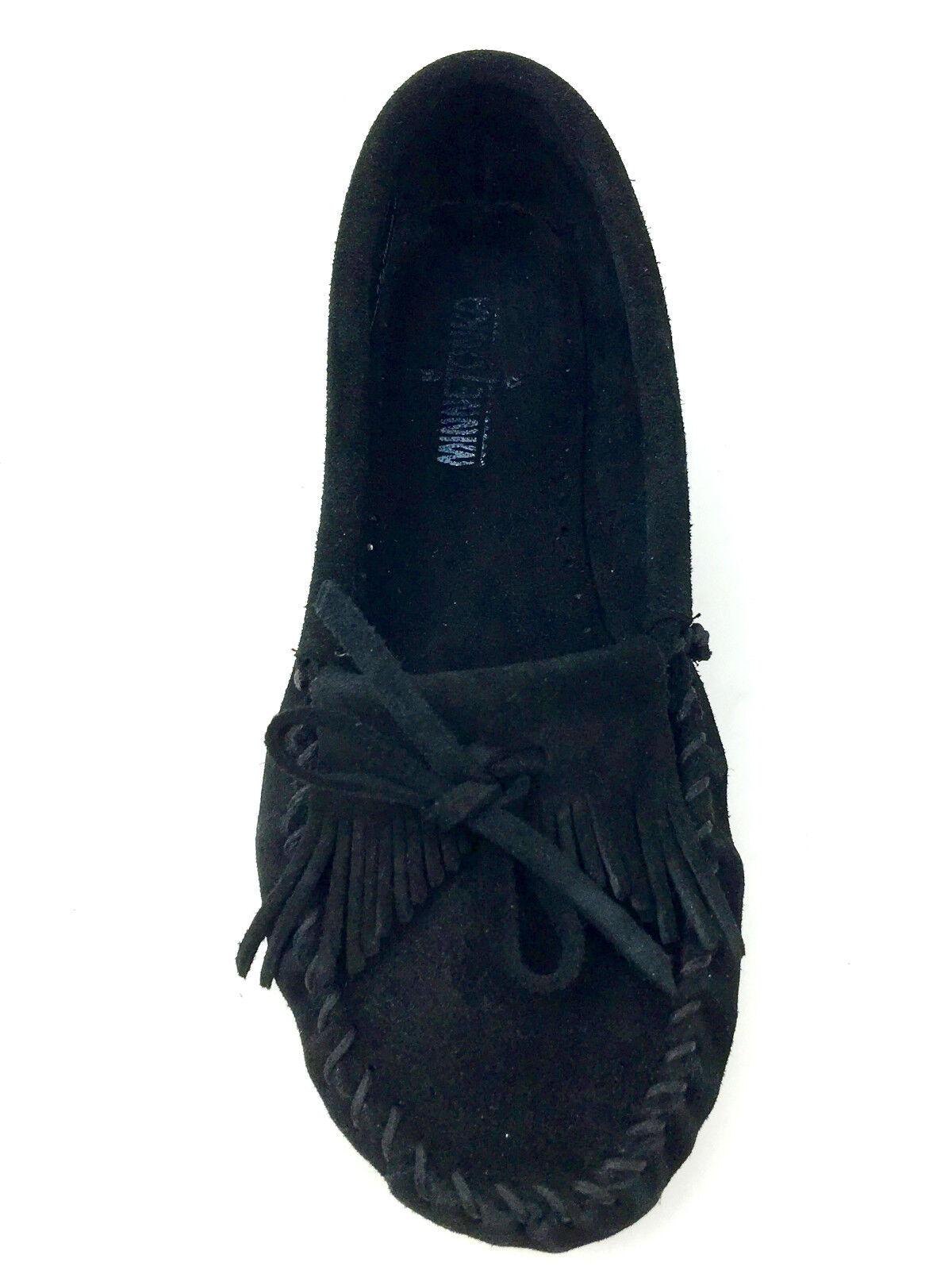 Minnetonka Fringe moccasins Flat shoes Black Size 8.5 USA