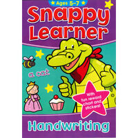 Snappy Learner Handwriting Education Book & Reward Stickers Age 5-7 (B080)