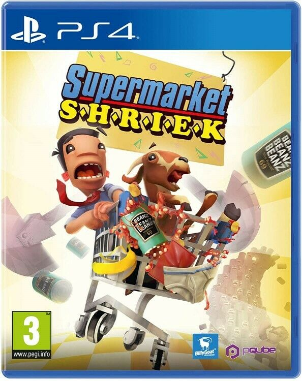 Supermarket Shriek for Sony Playstation 4 PS4 Video Game