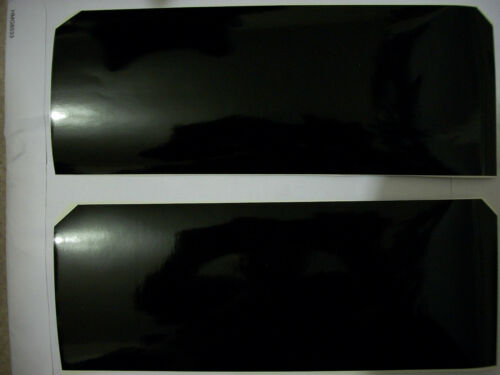 BLACK 2 Vinyl Sheets Chevy Bowtie emblem overlay decal grill you cut wrap cover