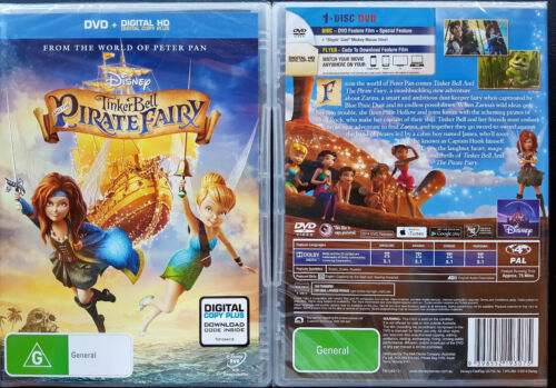 1 of 1 - Tinker Bell And The Pirate Fairy DVD + Digital HD Copy Plus BRAND NEW R4