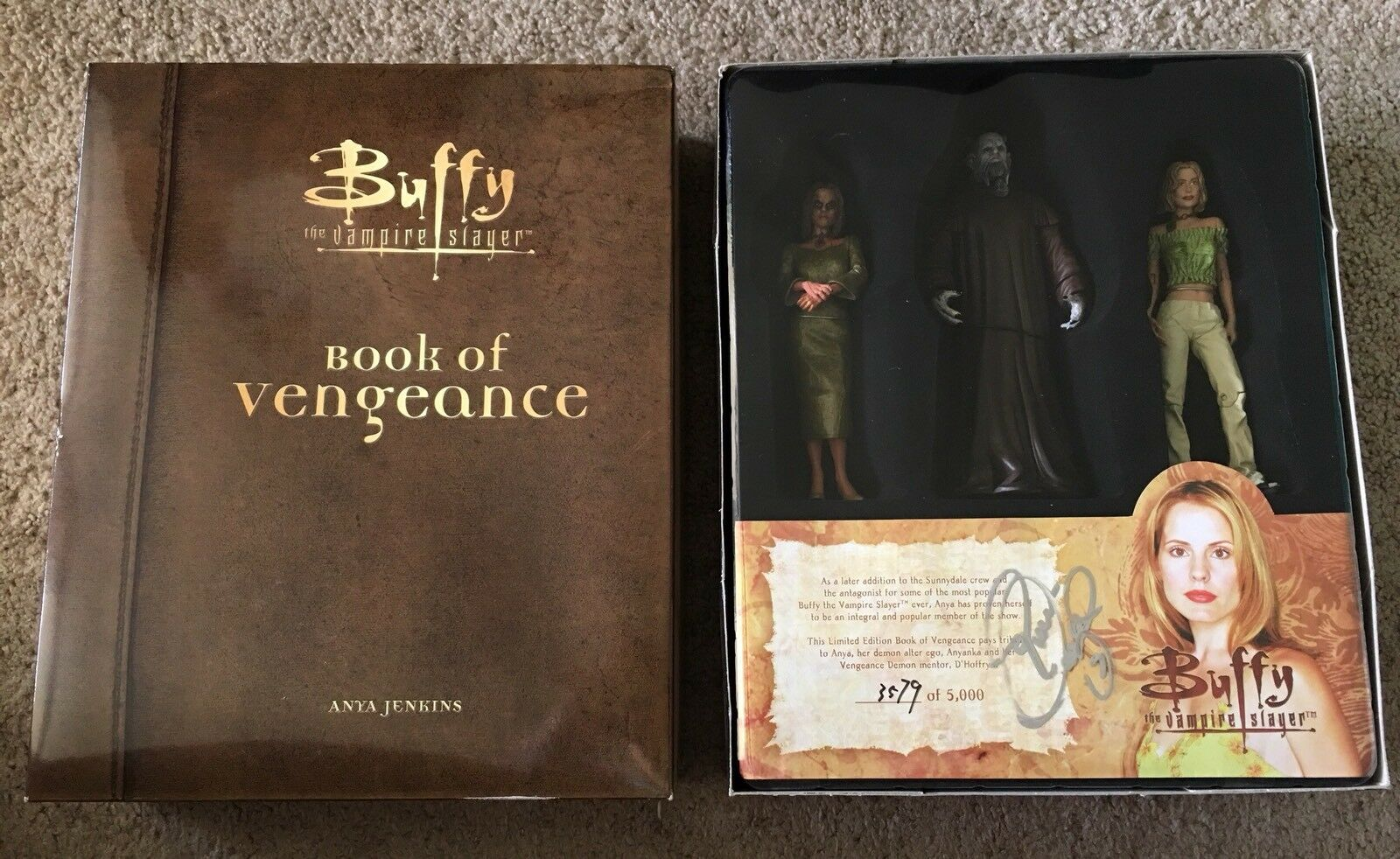 Buffy the Vampire Slayer Book of Vengeance box set Emma Caufield Auto Anya
