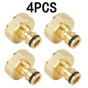 4-Female-Garden-Watering-Water-Hose-Pipe-Brass-Adaptor-Connector-Quick-Fit-HOT