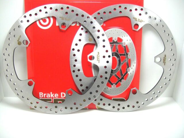 PAIR 2 FRONT BRAKE DISCS BREMBO 68B407D7 BMW R 1200 RT 2005 2006 2007
