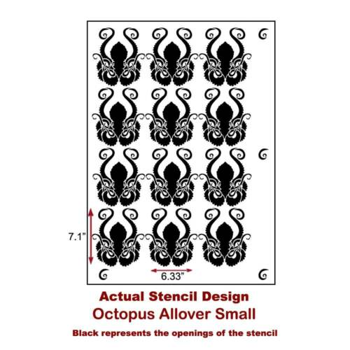 Aquatic Stencil Trendy Wall Stencils for Wall Décor Octopus Allover Stencil