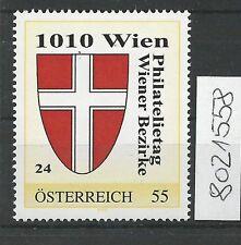 Österreich PM personalisierte Marke Philatelietag 1010 WIEN 8021558 **