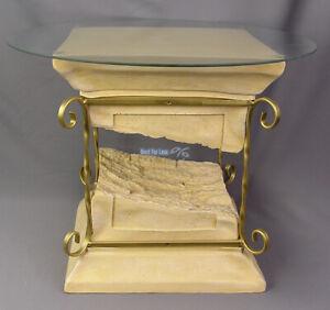 Säule Tisch Tischsäule Antik Optik Couchtisch Griechisch Beistelltisch neu