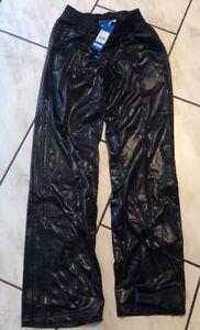 Details zu Original Adidas Chile62 Damen Hose Gr. S NEU mit Etikett Schwarz Glänzend