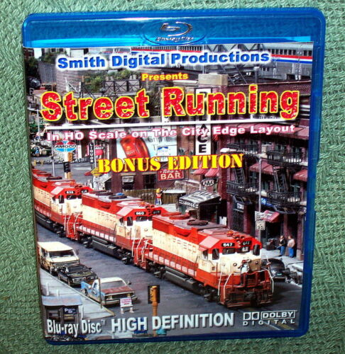 "20129 BLU-RAY HD VIDEO /""STREET RUNNING/"" HO SCALE CITY EDGE"
