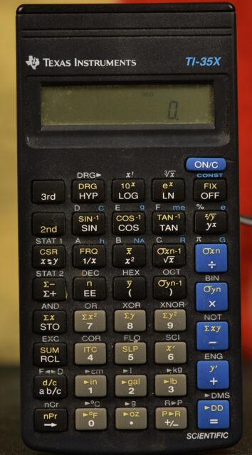 Texas Instuments TI-35X Calculator Made in Italy Scientific