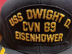 50a05253633 USS Dwight D. Eisenhower CVN 69 Cap Hat Dupont NEW ERA DUPONT Visor ...