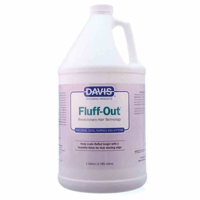 Davis Fluff-Out Show Coat Finish for Cats and Dogs 1 Gallon. 3.79L