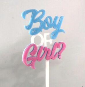 boy or girl gender reveal cake topper new baby baby shower ebay
