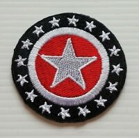 Stars Black Embroidered Sew Iron on Patch Free shipping
