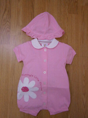 Spanish Style Baby Girl Romper and Hat Set Outfit