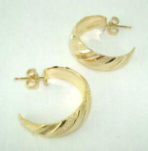 18K-Gold-Plated-Textured-Hoop-Earrings-LIFETIME-WARRANTY