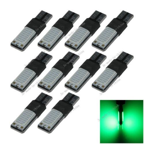 10X Green 2SMD COB LED 32 Chips T10 W5W Bulb Wedge Side Light Bulb Lamp 12V A127