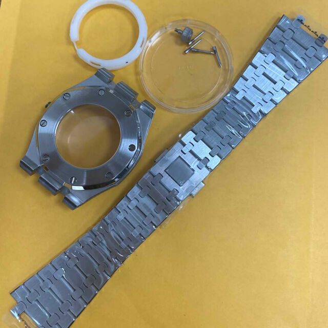 41mm Stainless Steel Watch Case Wrist Strap Band for NH35/NH36/4R36 Movement Kit