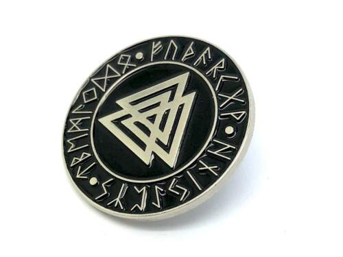 Valknut Knot Of The Slain Viking Silver Metal Pin Badge