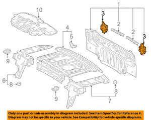 image is loading toyota-oem-2018-camry-rear-body-support-bracket-