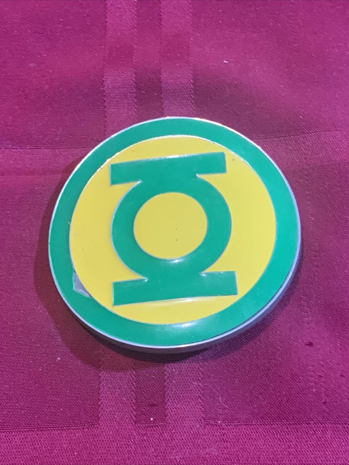 Green Lantern Comics Yellow Super Hero Belt Buckle