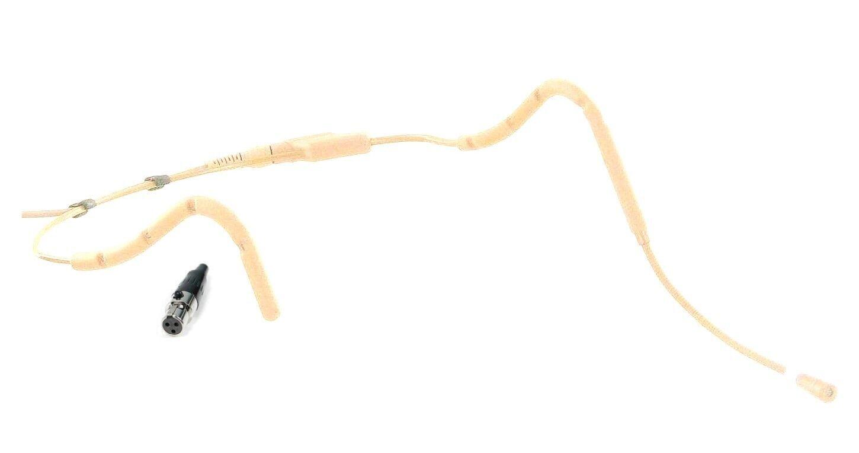 Mini Sweat Resistant Tan Headworn Mic Beige Headset Microphone for AKG Wireless