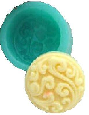 Classic Round Silicone Soap Mould R0174