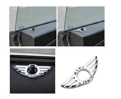 Fit For BMW MINI Cooper Clubman Auto Car Door Pin Lock Wing Emblem Badge Sticker