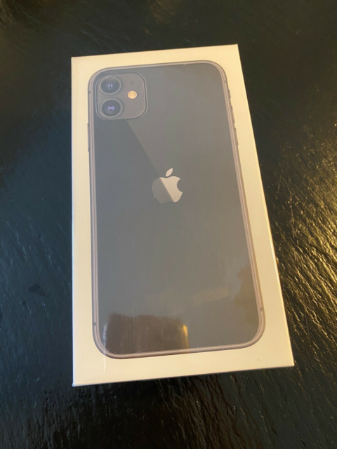 iPhone 11, 64 GB, sort, Perfekt, Helt ny og uåbnet…