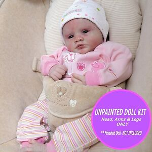 "Reborn kit  Rose unpainted vinyl kit only  so  sweet 19/"" w// FREE GIFT"