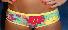 New Victorias Secret Yellow Retro Floral Hot Short Bikini Bottom  XS Extra-Small