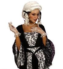 Ladies Colonial Wig White 18th Century Peruke Civil War Noblewoman Fancy Dress