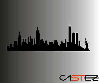 vinilo decorativo skyline new nueva york sticker pegatina vinyl pared hogar casa