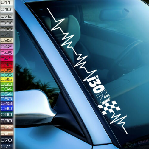 Pulsschlag Aufkleber i30 N Frontscheibenaufkleber Sticker Performance RACE F84