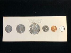1960 Canada Prooflike Silver Set Original Royal Canadian Mint set RCM Package #1