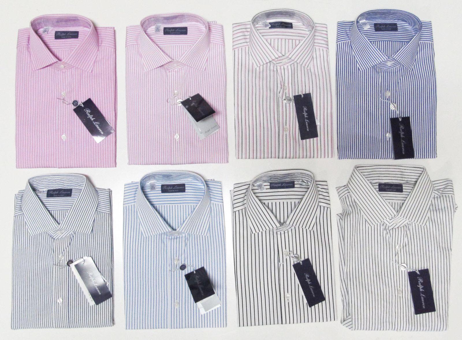 Ralph Lauren Purple Label  Mens Striped Button Down Long Sleeve Dress Shirt