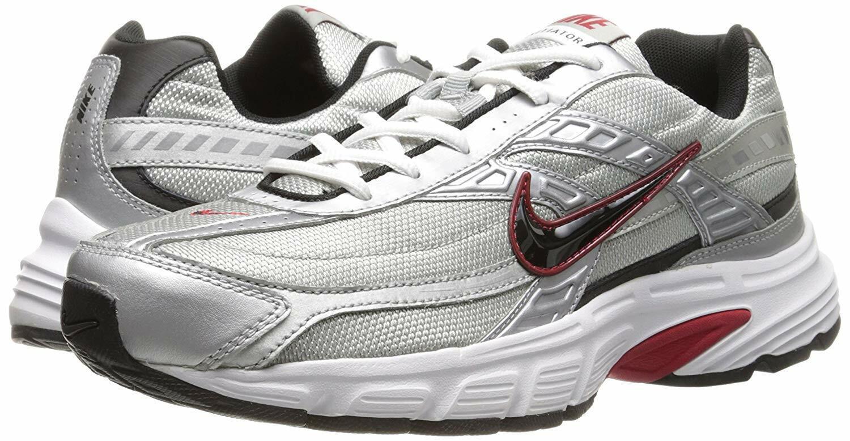 Nike INITIATOR Mens Metallic Silver Black-White 394055-001 shoes