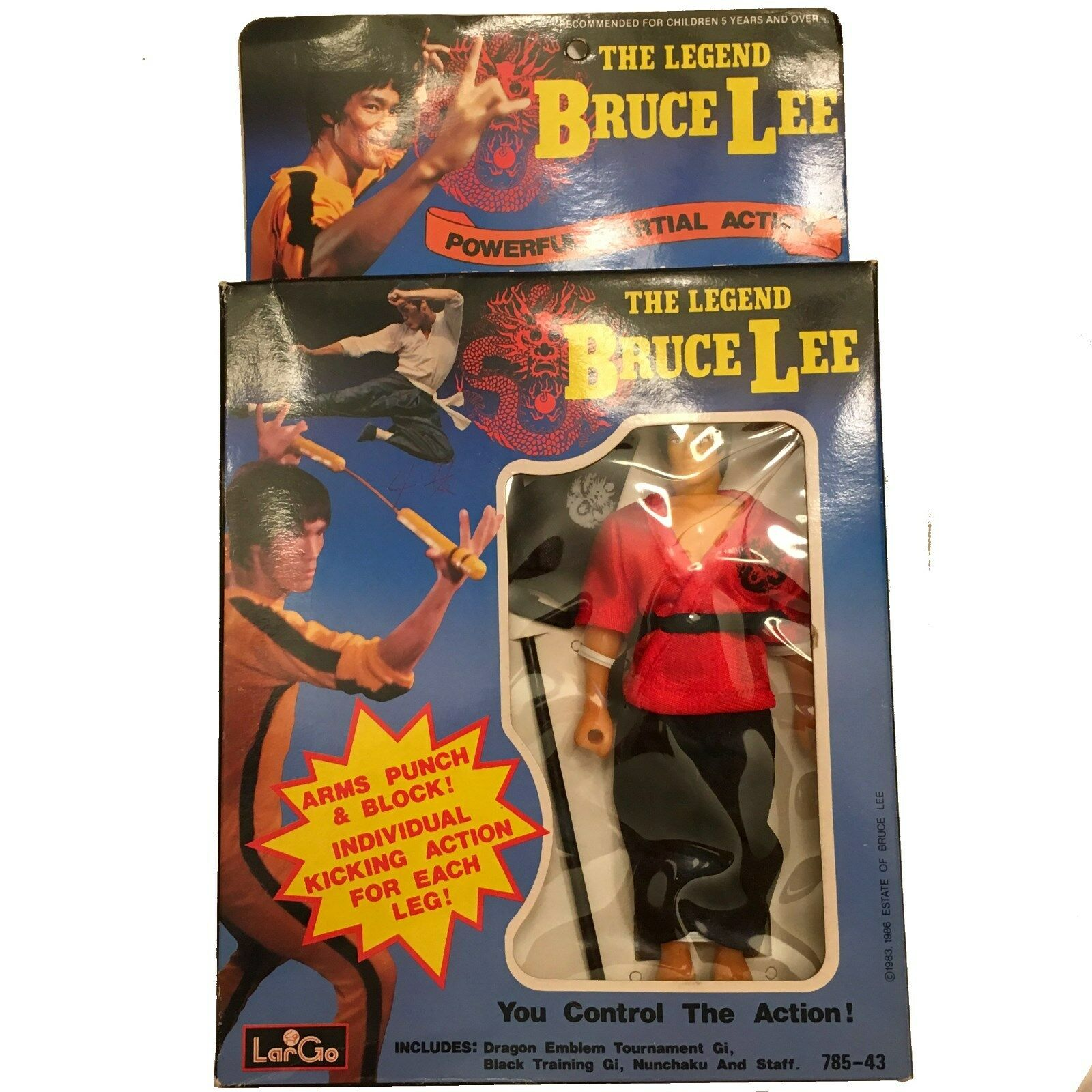 Legend of Bruce Lee Action Figure, LarGo VINTAGE, RARE  (785-43)