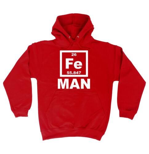 IRON MAN FE HOODIE science hoody geek joke funny birthday gift present him her