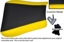 YELLOW & BLACK CUSTOM FITS TRIUMPH 01-05 SPEED TRIPLE 955 i FRONT SEAT COVER