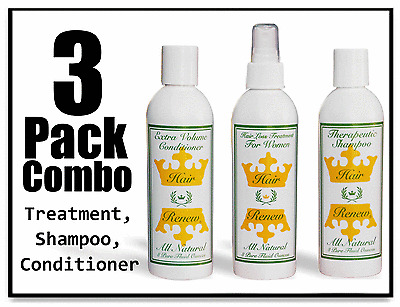 WOMENS NATURAL HAIR RENEW Combo Pack loss treatment shampoo conditioner regrowth
