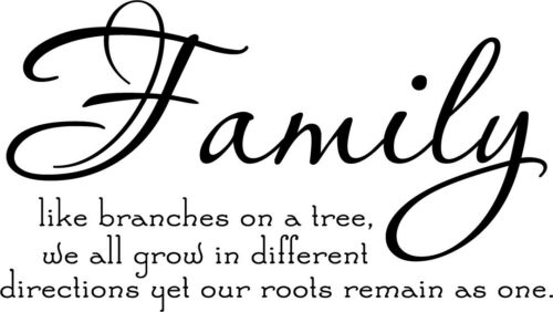 Family Tree Together Love Vinyl Wall Home Decor Decal Quote Inspiration Adorable