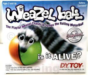 Weazel-Ball-Wieselball-Wiesel-am-Ball-batteriebetrieben-Spielzeug-Hunde-amp-Katzen