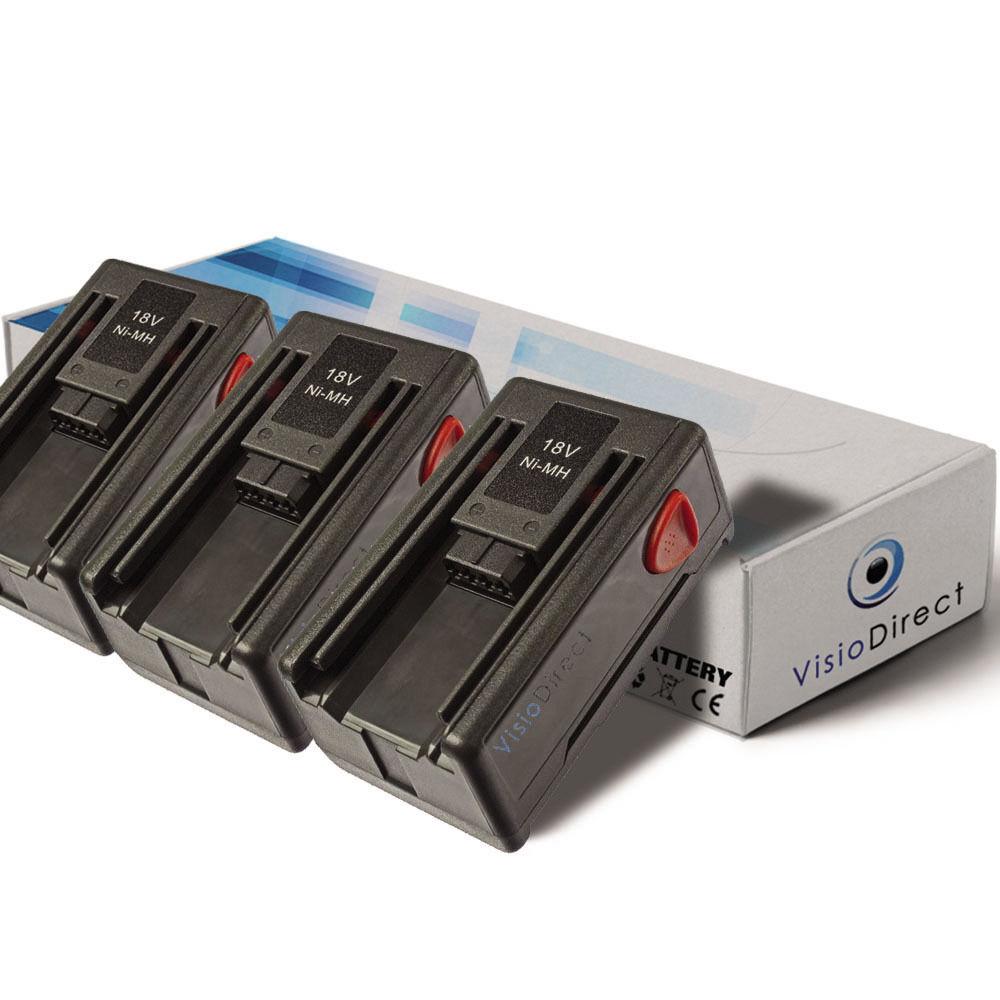 Lot de 3 batteries 18V 1500mAh pour Gardena 648844 - Société Française -