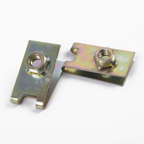 100Pcs Auto Fasteners Car Body Door Panel Trim Fixed Screw U Type Gasket Clip US