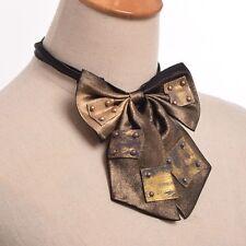 Vintage Unisex Bowknot Bowtie Steampunk Industrial Victorian Tie Costume Necktie
