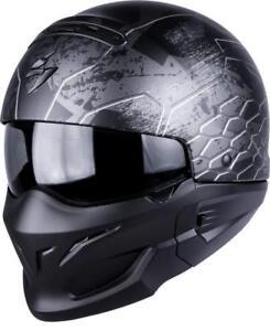 /Cascos Moto Exo Combat Negro Mate Scorpion/