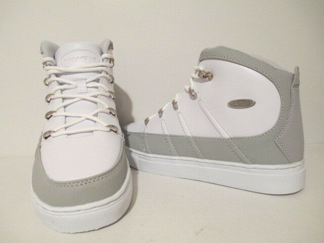 Lugz Mens Pronto Mid MPROML-1510 Leather Fashion Sneakers White  Glacier Size 8