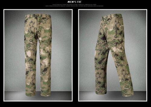 Homme Militaire requin peau Outdoor Pantalon Soft Shell Imperméable Polaire Tad Pantalon