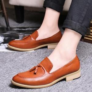Cuir On Hommes Chaussures En Décontractées Habillent Slip Nouveaux Mocassins Glands Oxfords GMVUSzpq
